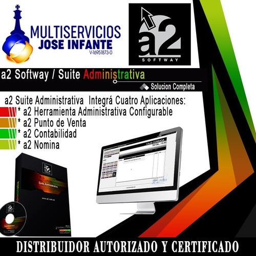 Sistema A2 Softway Suite Administrativa (hac+pdv+con+nomina)