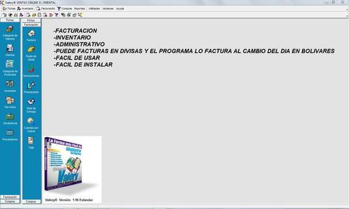 Sistema Administrativo De Facturacion Valery Inventarios