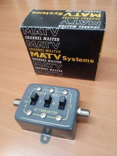 Atenuador De Señal Uhf/vhf/fm 0-21db Channel Master Mod