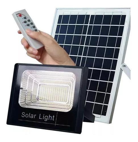Reflector Led 40w Con Panel Solar Y Control Remoto Con Timer