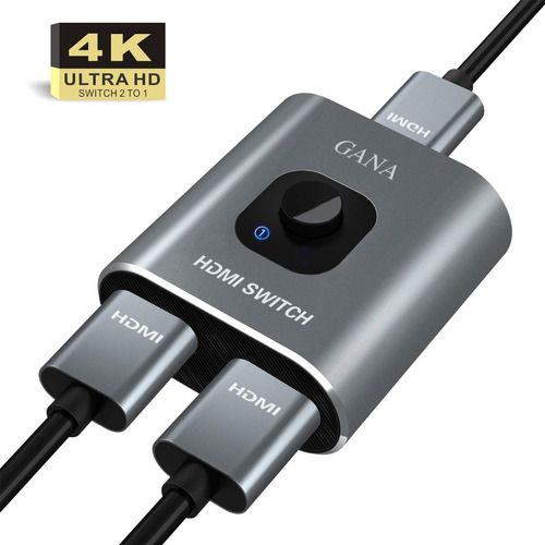 Switch Hdmi 4k Splitter Bidireccional 2 En 1 In Out