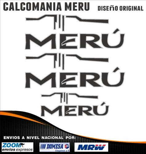 Calcomanias Toyota Meru, Diseño Original. Kit De 3 Unidades