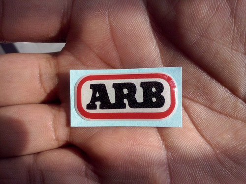Emblema Tipo Calcomania En Relieve Logo Arb Para Faros