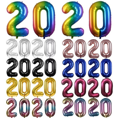 Globos Metalizados De Letras De La A - Z Números De 0 A 9