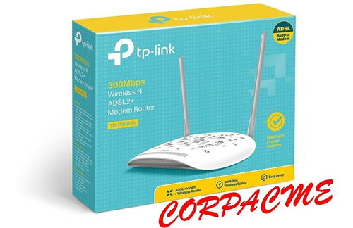 Modem Router Tp-link Rj45+ Rj11 Wifi 300mbps Tdwn Acme