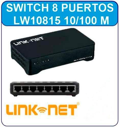 Switch 8 Puertos  Pc Lapto Modem Rj45 Red Rj11 Router