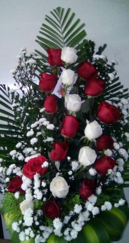 Floristería Arreglo Ramo Flores Cumpleaños Dia De Las