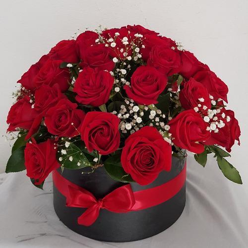 Floristeria Ramo Rosas En Cajas Enamorados Madres