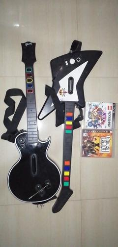 Guitarras Playstation + Juegos Para Playstation 3