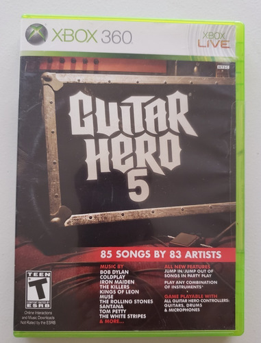 Juego Para Xbox 360 Elite Original Guitar Hero 5