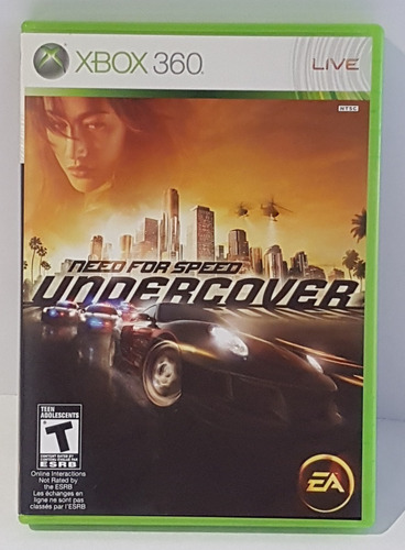 Juego Para Xbox 360 Elite Original Need For Speed Undercover