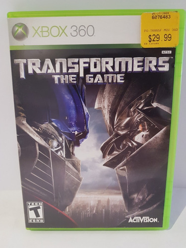 Juego Para Xbox 360 Elite Original Transformers The Game