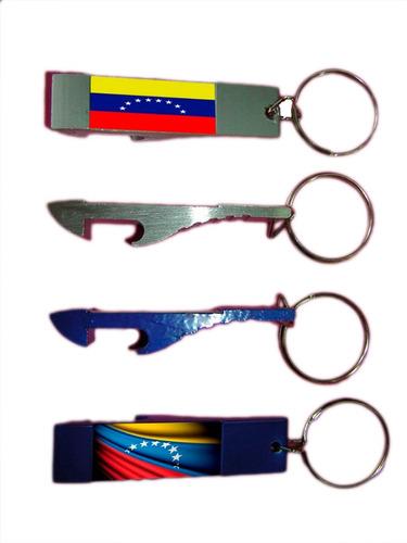 Llavero Destapador Aluminio Venezuela Paq 12 Llaveros