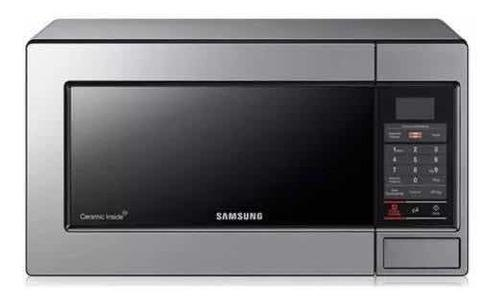 Microondas Samsung 23 Litros Acero 0.8 Interior De Cerámica