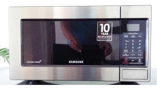 Microondas Samsung Ame83m Acero Inoxidable Como Nuevo