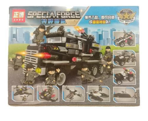 Equipo Elite Swat Lego Police Niño Armables(8 En 1) (3 En