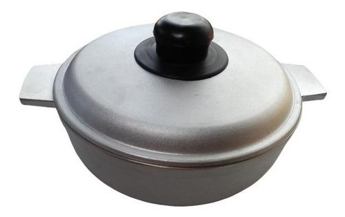 Caldero De Aluminio Pulido 22 Cm Con Tapa, Olla
