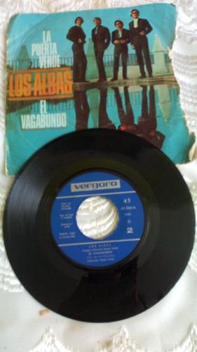 Disco Vinyl 45 Rpm Los.albas -el Vagabundo