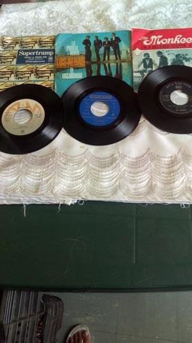 Disco Vinyl 45 Rpm Lote De 3 Discos Supertramp Y 2 Más.