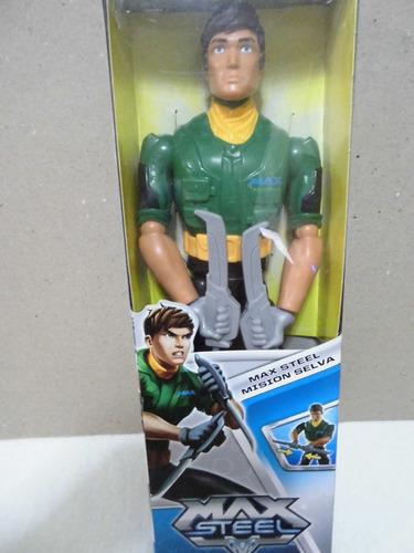 Figura Accion Max Steel Mision Selva Original Mattel 12verde