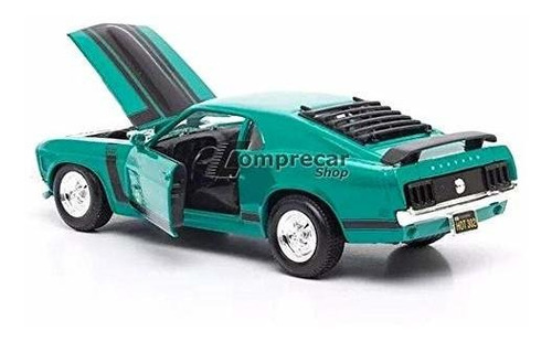 Ford Mustang Boss 302 Amarillo 1 24 Modelo Vehiculo
