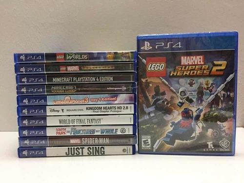 Lego Marvel Super Heroes 2 Juegos Ps4 Ps3 Infantiles
