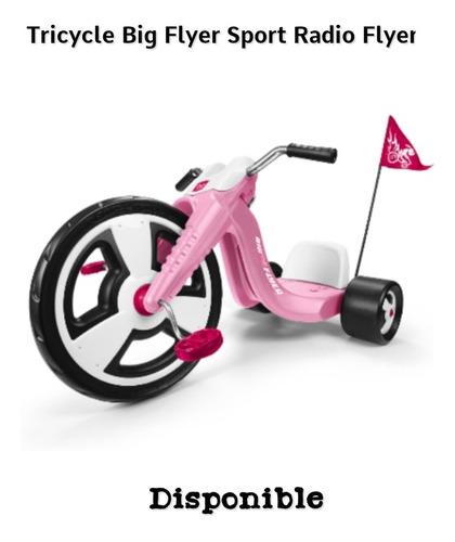 Triciclo Big Flyer Sport Pink Marca Radio Flyer Disponible