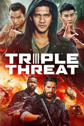 Película Triple Amenaza Estreno  Full Hd p En Combo