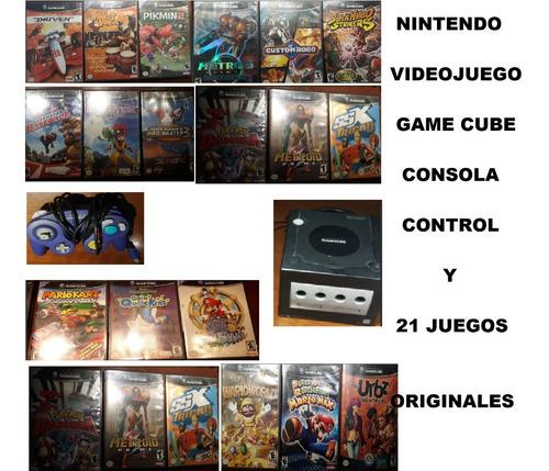 Game Cube Nintendo Consola Videojuegos Con 21 Juegos Usados