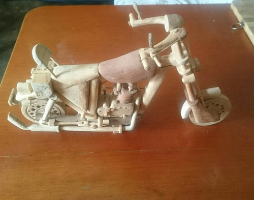 Moto De Madera Artesanal