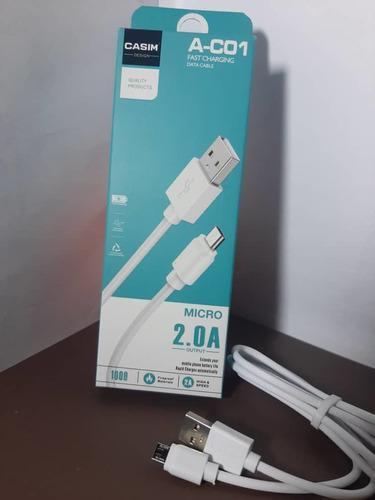 Cargador Cable Micro Usb Casim Carga Rapida Y Datos