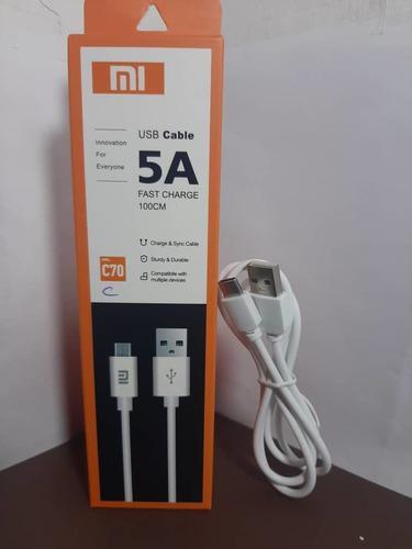 Cargador Cable Usb Tipo C Carga Rapida Y Datos Xiaomi Redmi