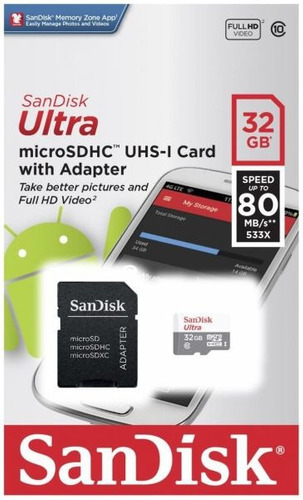 Memoria Micro Sd Sandisk 32 Gb Original Clase 10