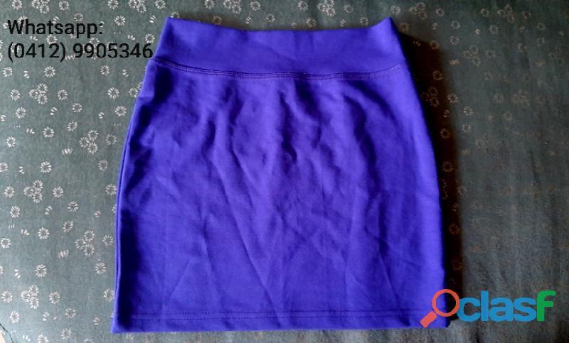 Mini falda azul rey