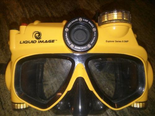 Careta Para Snorkel Con Camara De 8.0 Mpx Marca Liquid Image