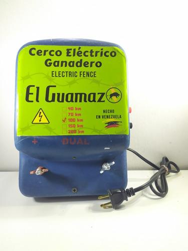 Electrificador Dual Cerca Ganadera 100km Cargador Batería