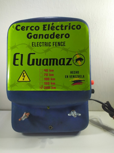 Electrificador Dual Cerca Ganadera 200km Cargador Batería