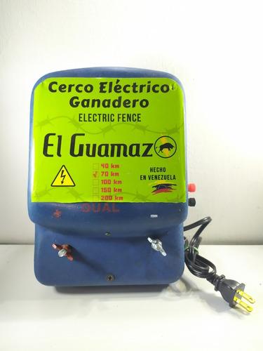 Energizador Dual Cerca Ganadera 70km Cargador De Batería