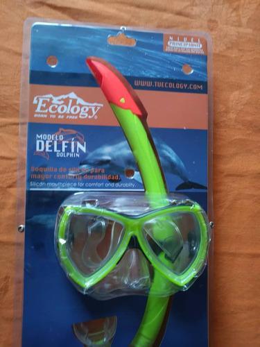 Máscara De Buceo Ecology Modelo Delfin Nuevo
