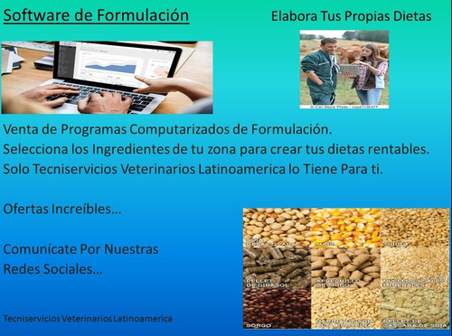 Programa De Formulación Computarizada Alimento Concentrado