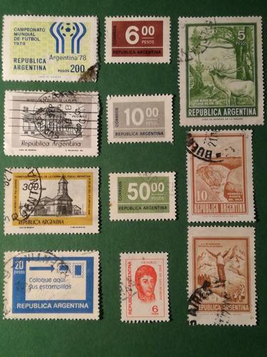 Estampillas De Argentina. Series Variadas Años 70.