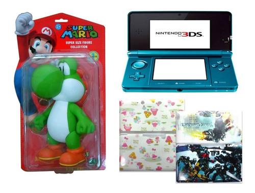 Nintendo 3ds Azul Aqua+super Yoshi (tienda Física)