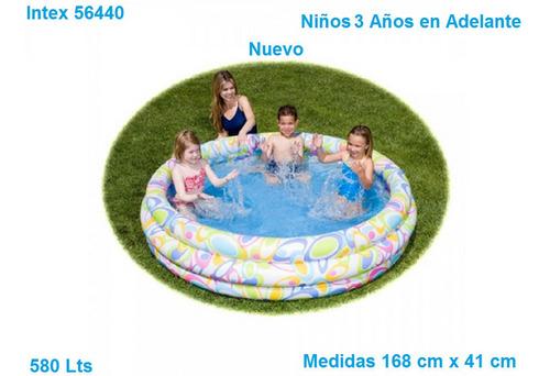 Piscina Niños Inflable 3 Aros 168cm X 41cm Marca Intex