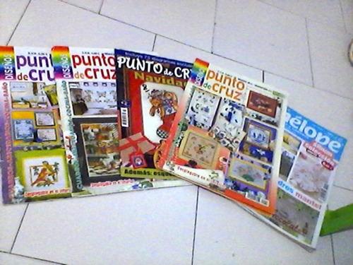 Revistas De Manualidades (punto De Cruz/ Bordados) 5 Unid.