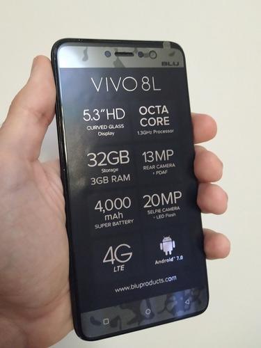 Sin Bateria Blu Vivo 8l 32gb Rom 3gb Ram Android 8.1 20mp
