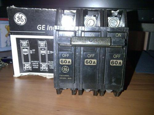 Breakers Thqc 3x60 General Electric Original Nuevos