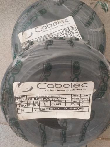 Cable No12 Thw Marca Cabel Rollo De 100metros 100 % Cobre