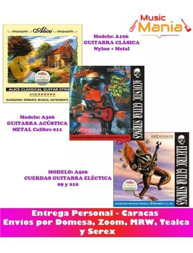 Juego De Cuerdas Guitarra Clasica Acustica O Electrica Alice
