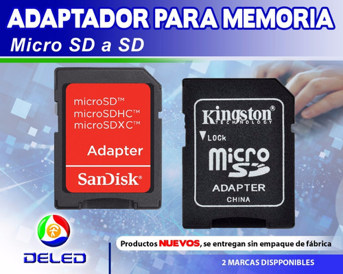 Adaptador De Memoria Micro Sd A Sd 10 Piezas