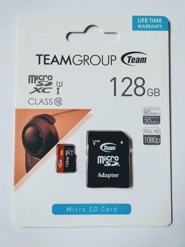 Memoria Micro Sd 128gb Clase 10 Teamgroup (uhs-1) Full Hd
